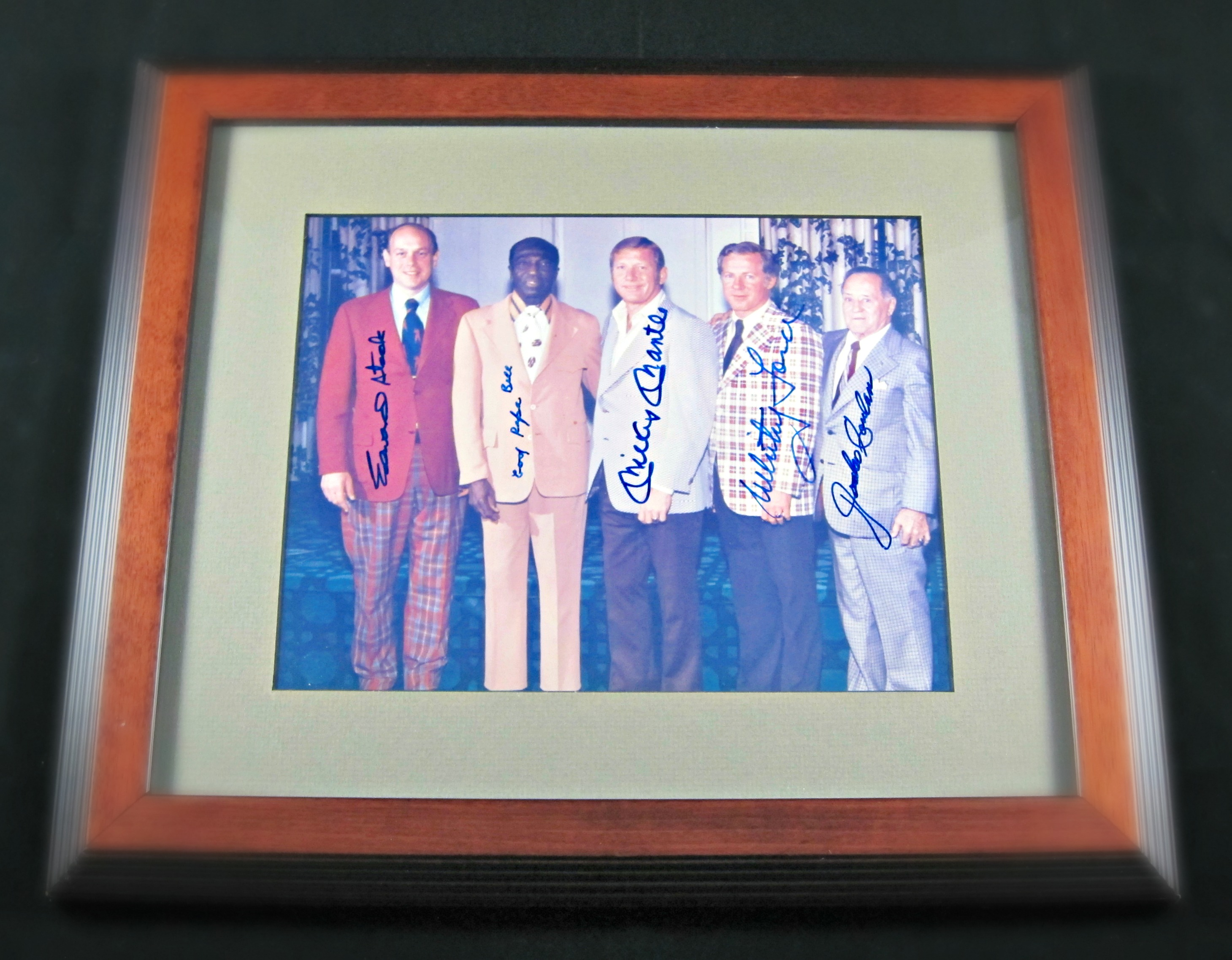 1974 Hall Of Fame Inductees Signed Photo Memorabilia Center