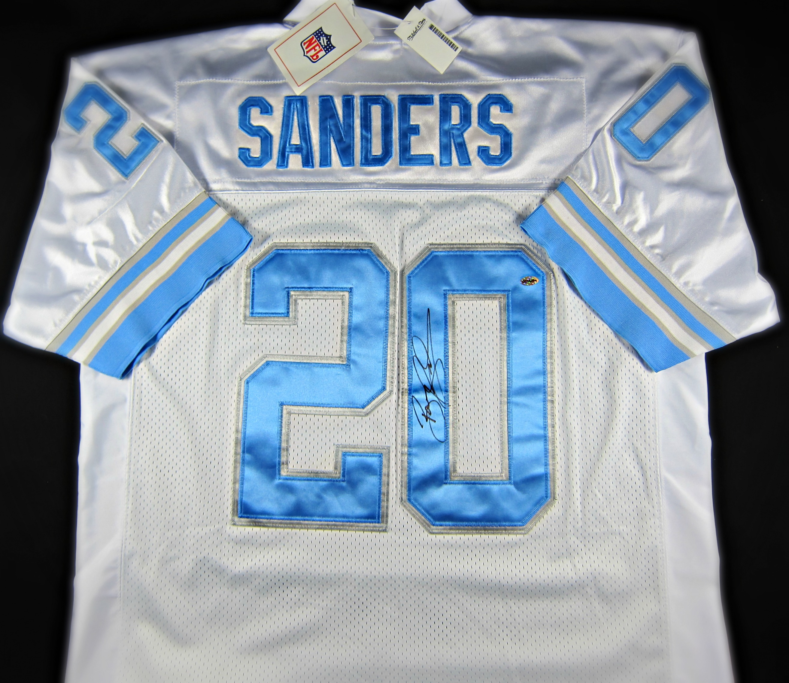 hot sale online 82149 e05ad white barry sanders jersey