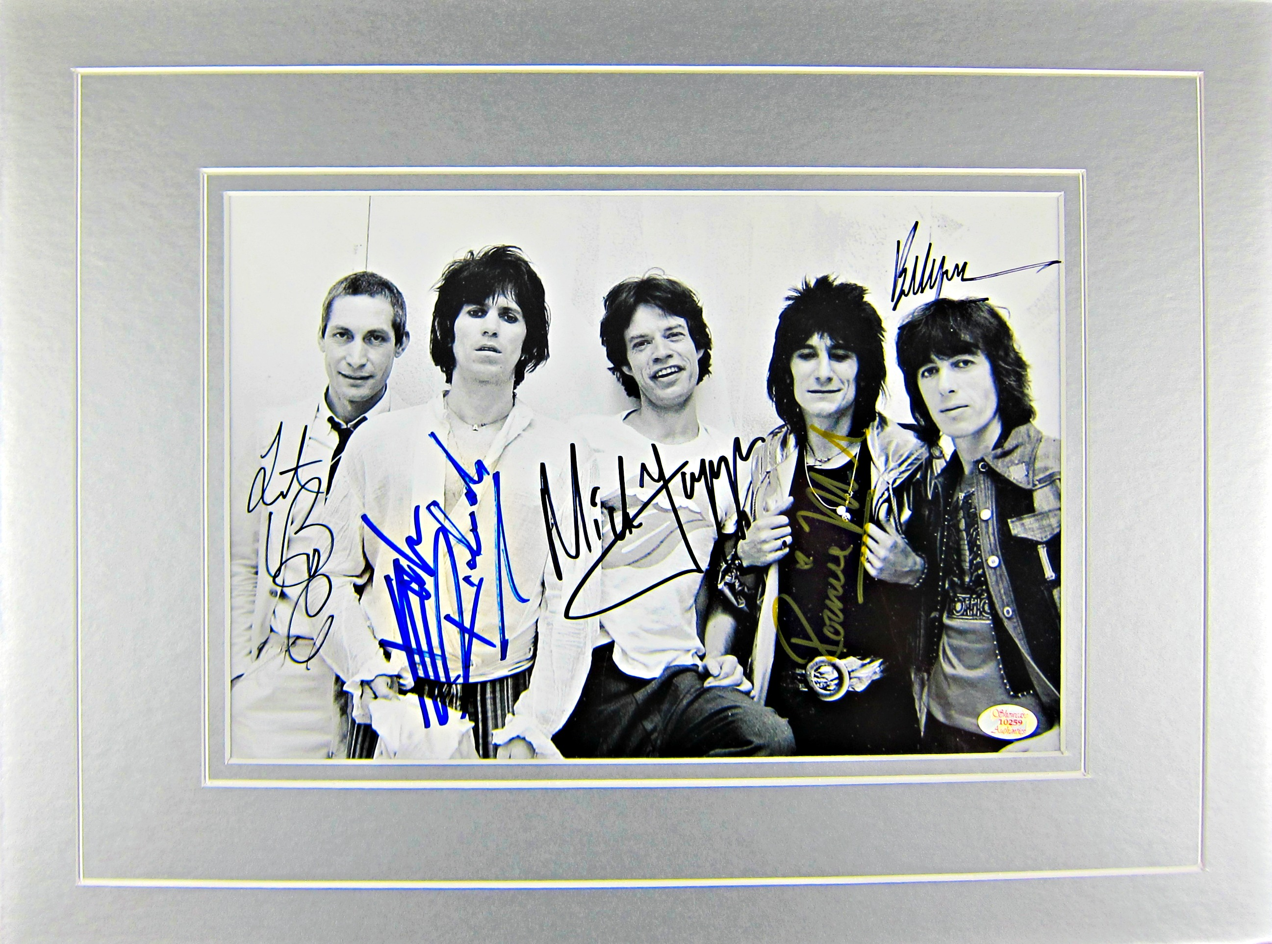 The Rolling Stones Autographed 8x11 Photo Matted