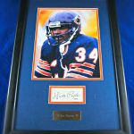 walter-payton-frmaed-cut-signature-and -picture