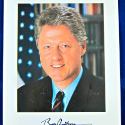 Bill Clinton signed photo