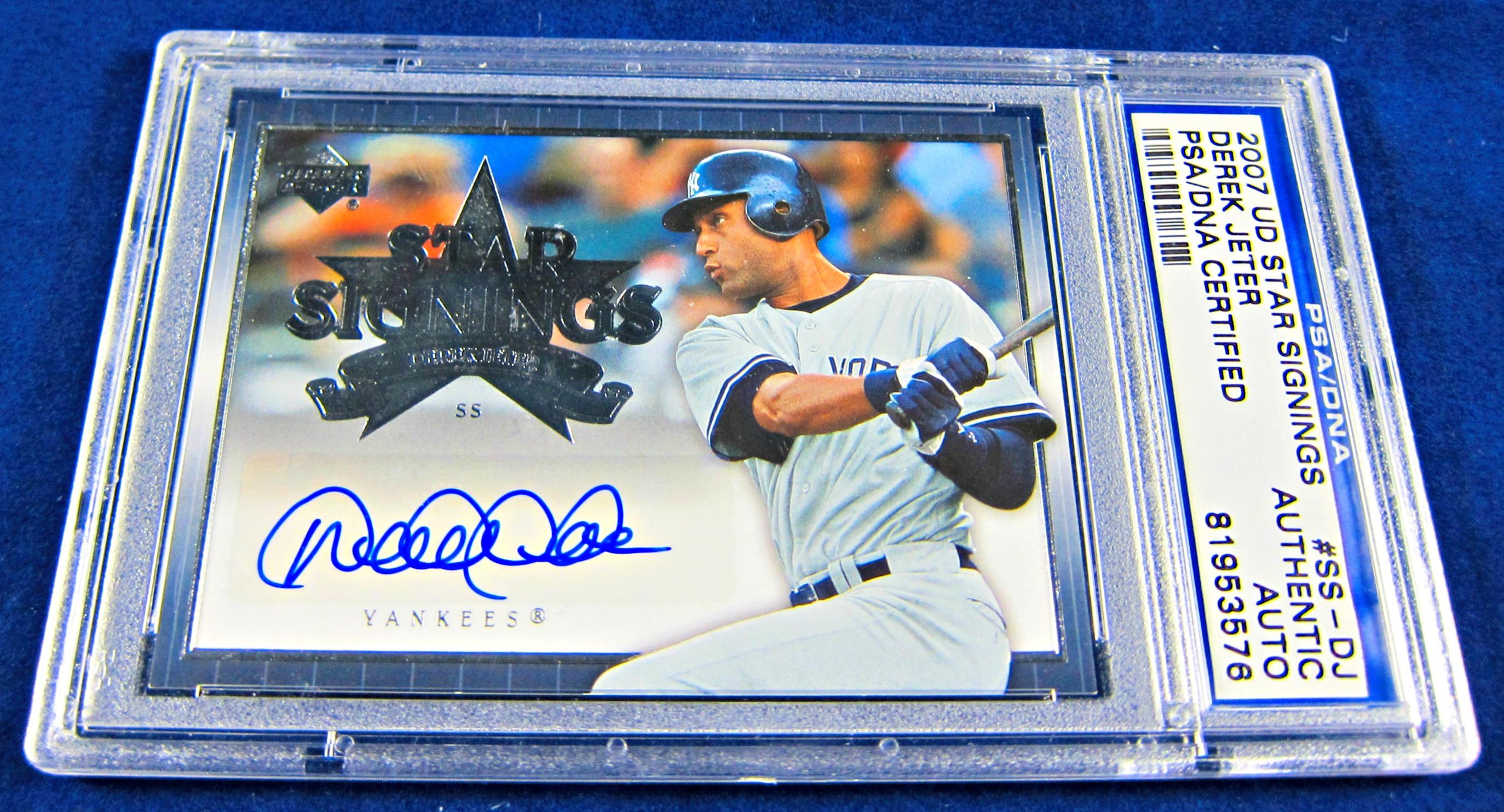 2007 Derek Jeter Autographed Upper Deck Star Signings Psadna Card