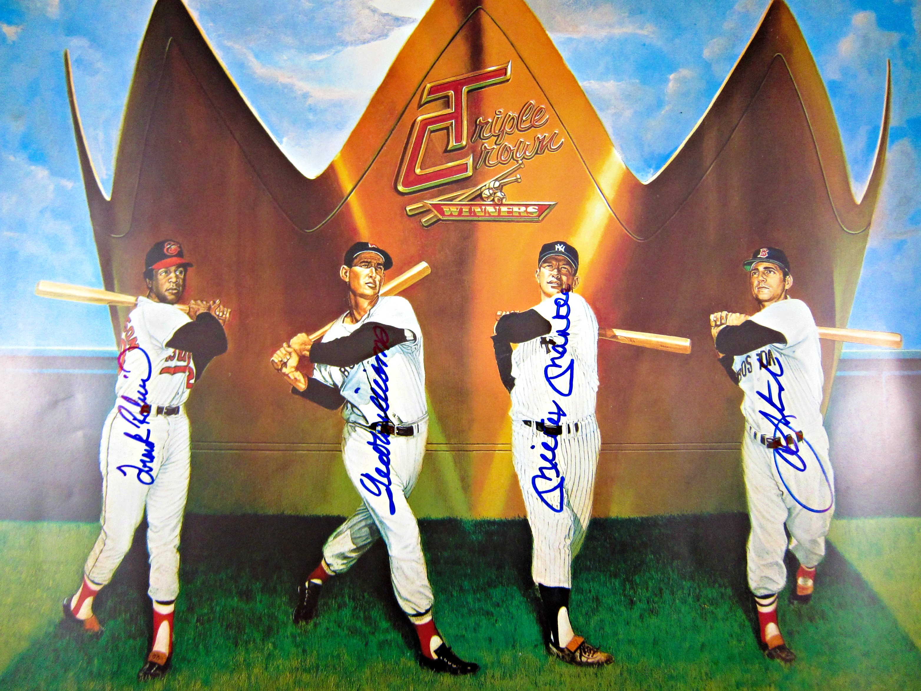 Triple Crown Winners Signed Ron Lewis Lithograph