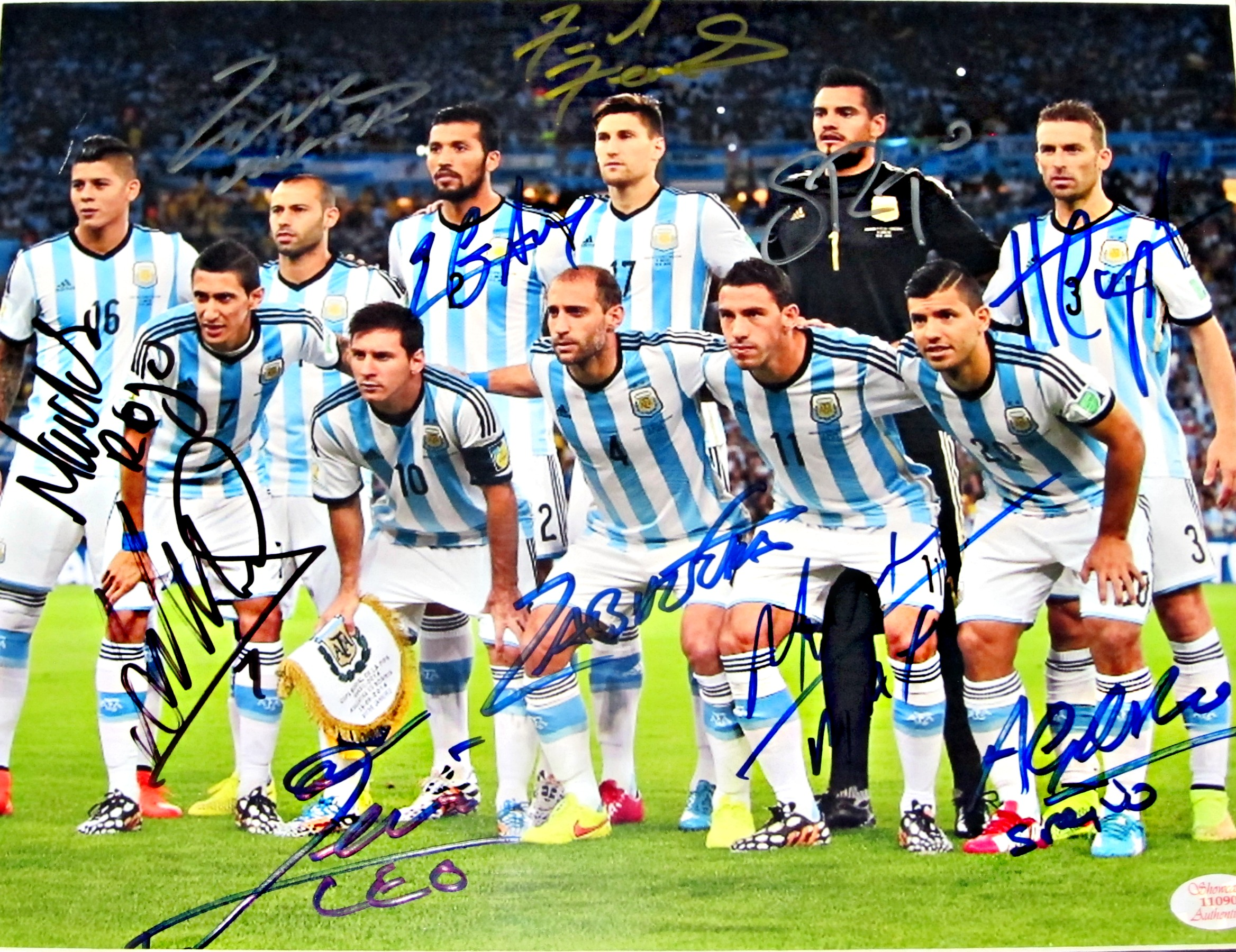 2014 argentina national team signed photo memorabilia center