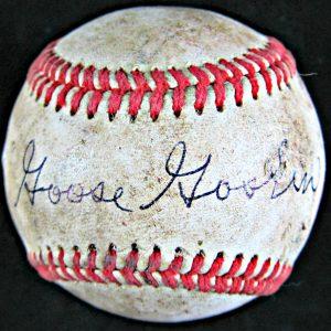 Goose Goslin signed baseball
