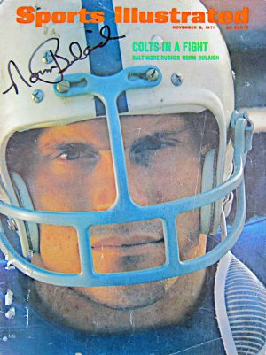 Norm Bulaich signed Sports Illustrated magazine