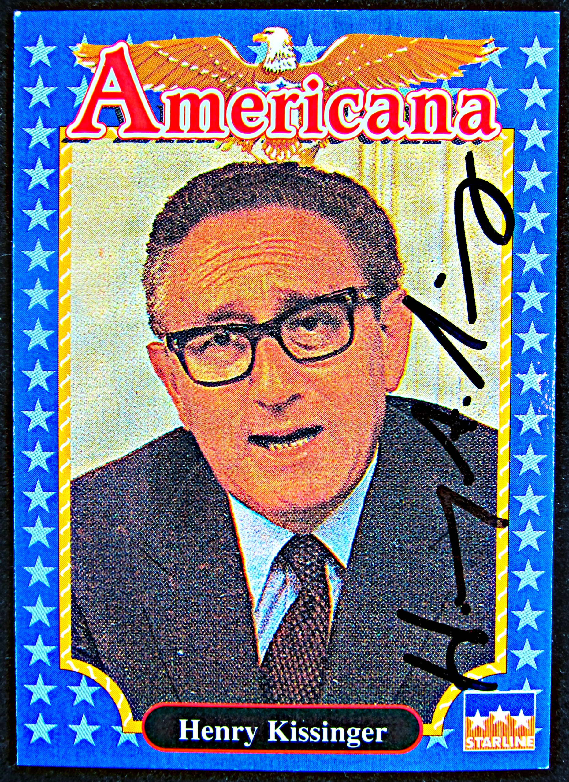 Henry Kissinger Autographed Card