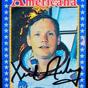 Neil Armstrong Autographed Card - Memorabilia Center