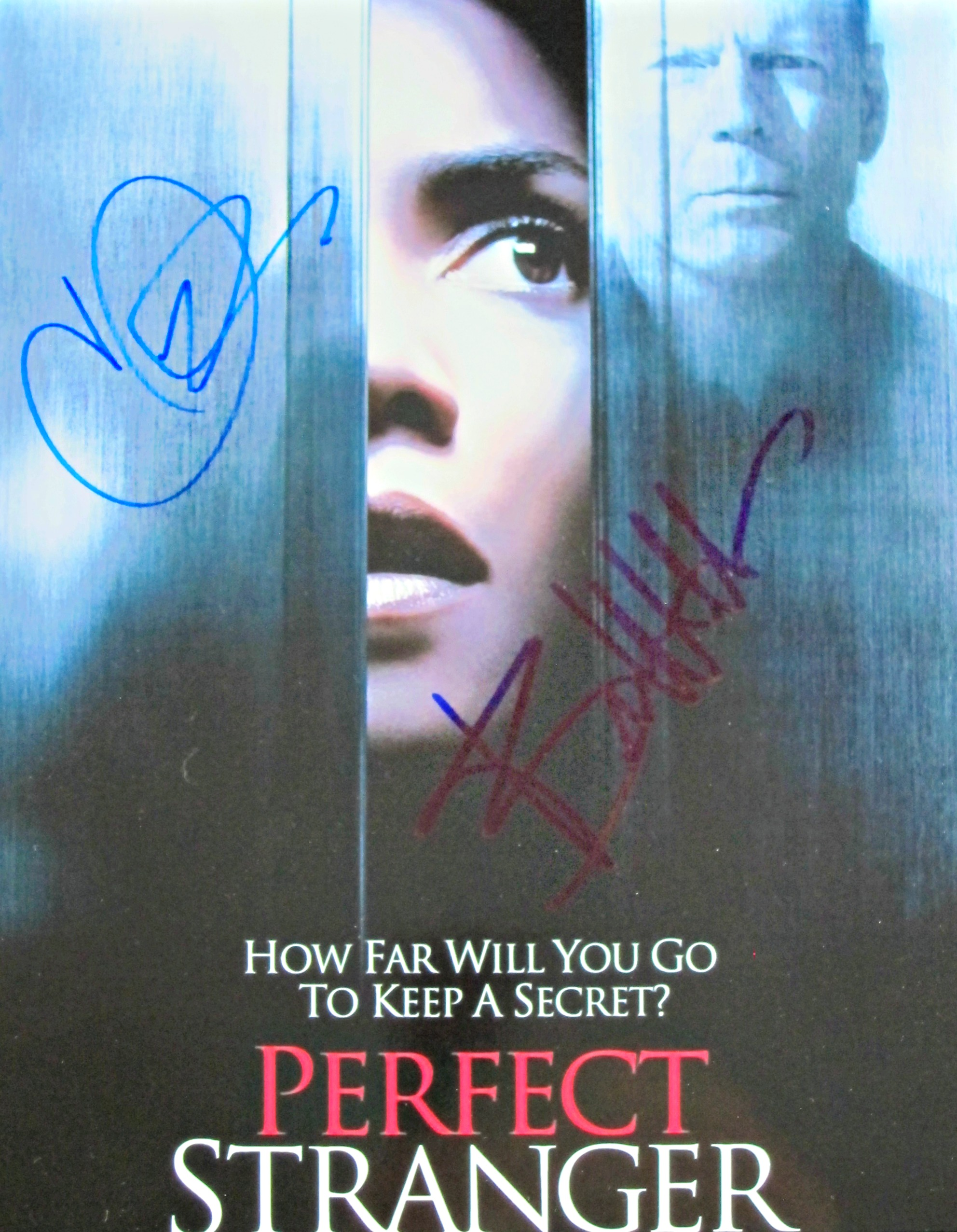 Bruce Willis and Halle Berry signed photo