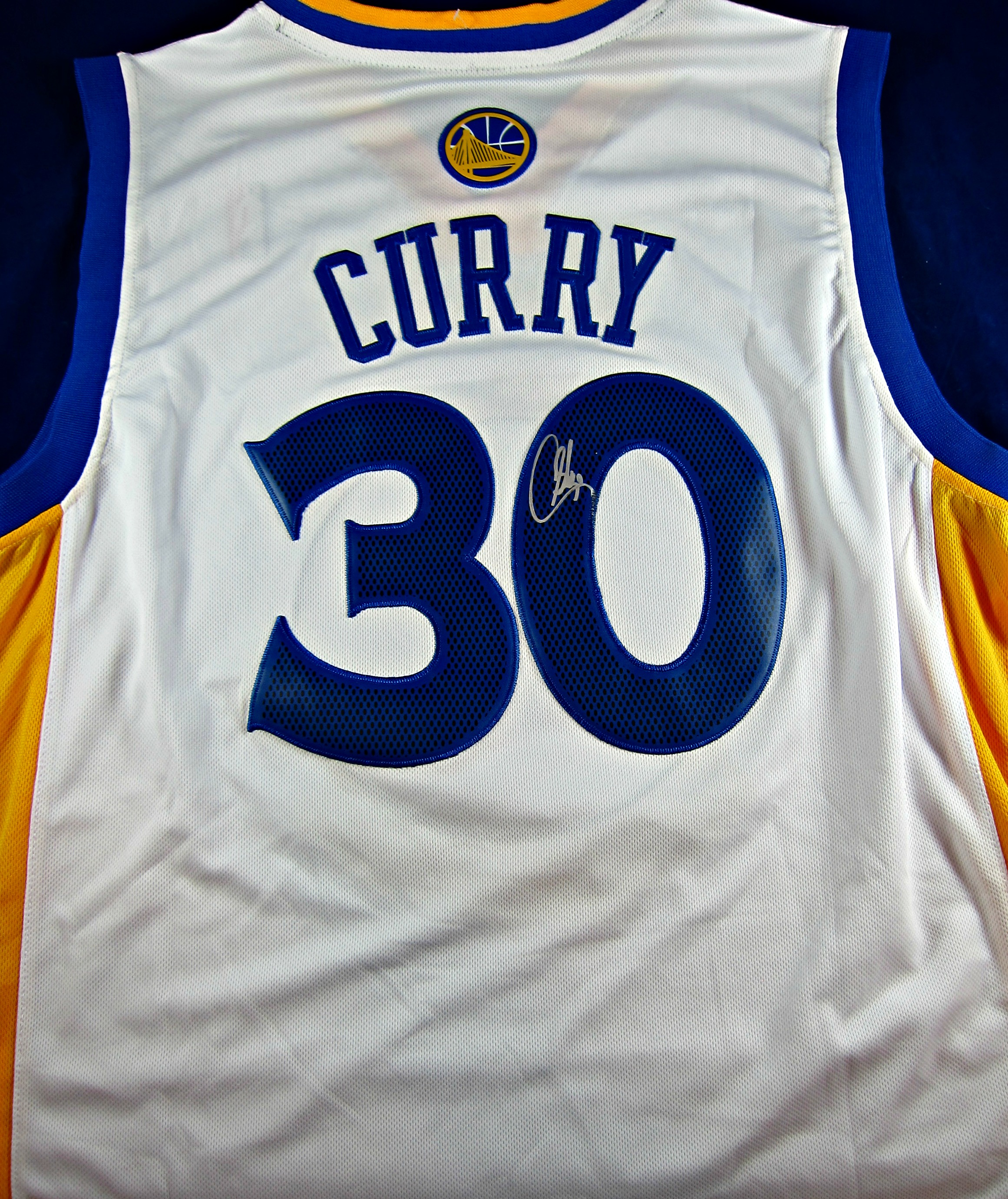 9fdd770717f7 Stephen Curry Autographed Golden State Warriors Jersey. 🔍. Stephen Curry