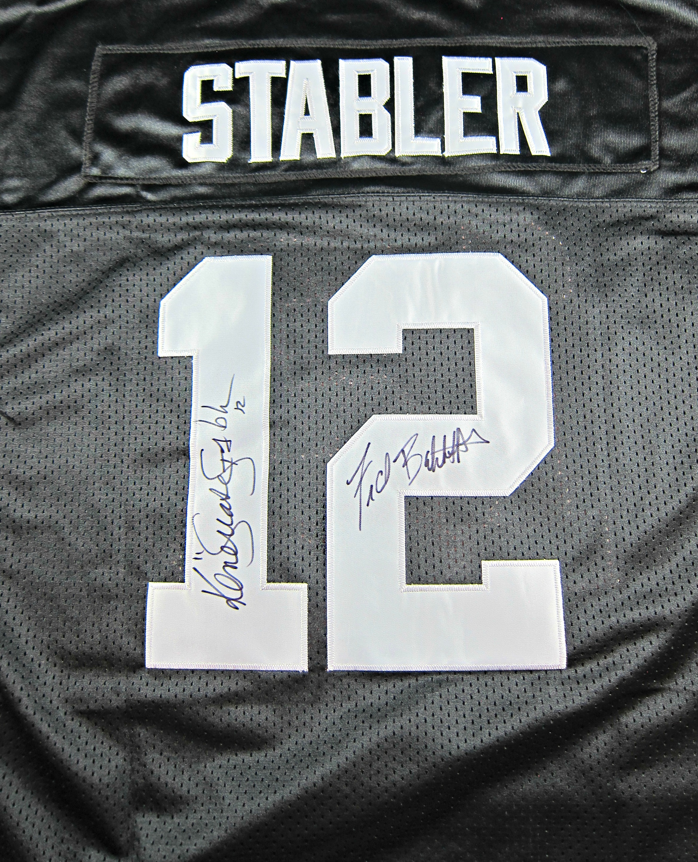 premium selection 53769 71a69 Ken Stabler & Fred Biletnikoff Autographed Oakland Raiders Jersey