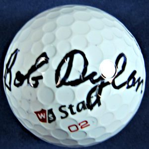Bob Dylan signed golf ball