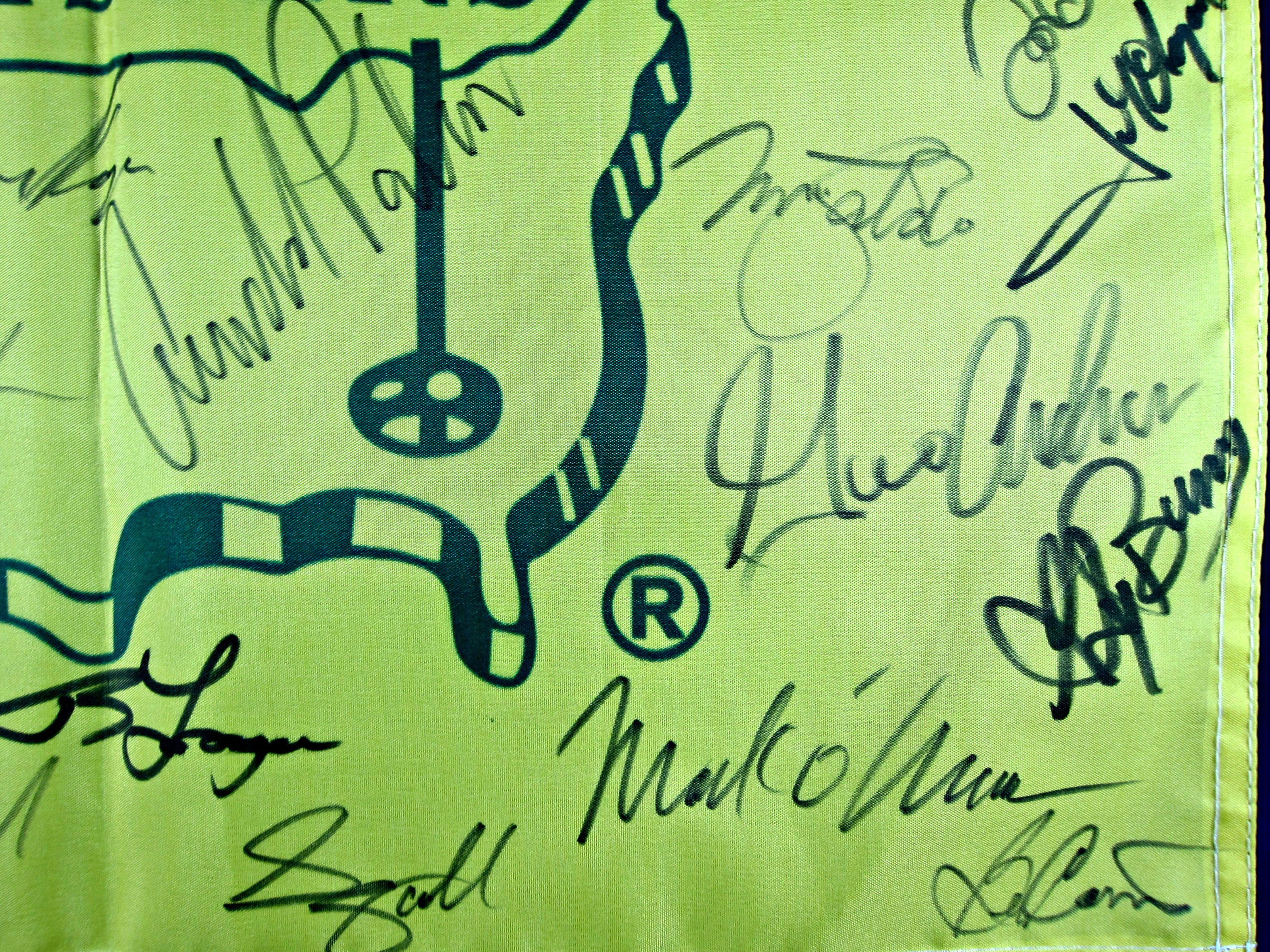 Masters Champions Autographed Flag