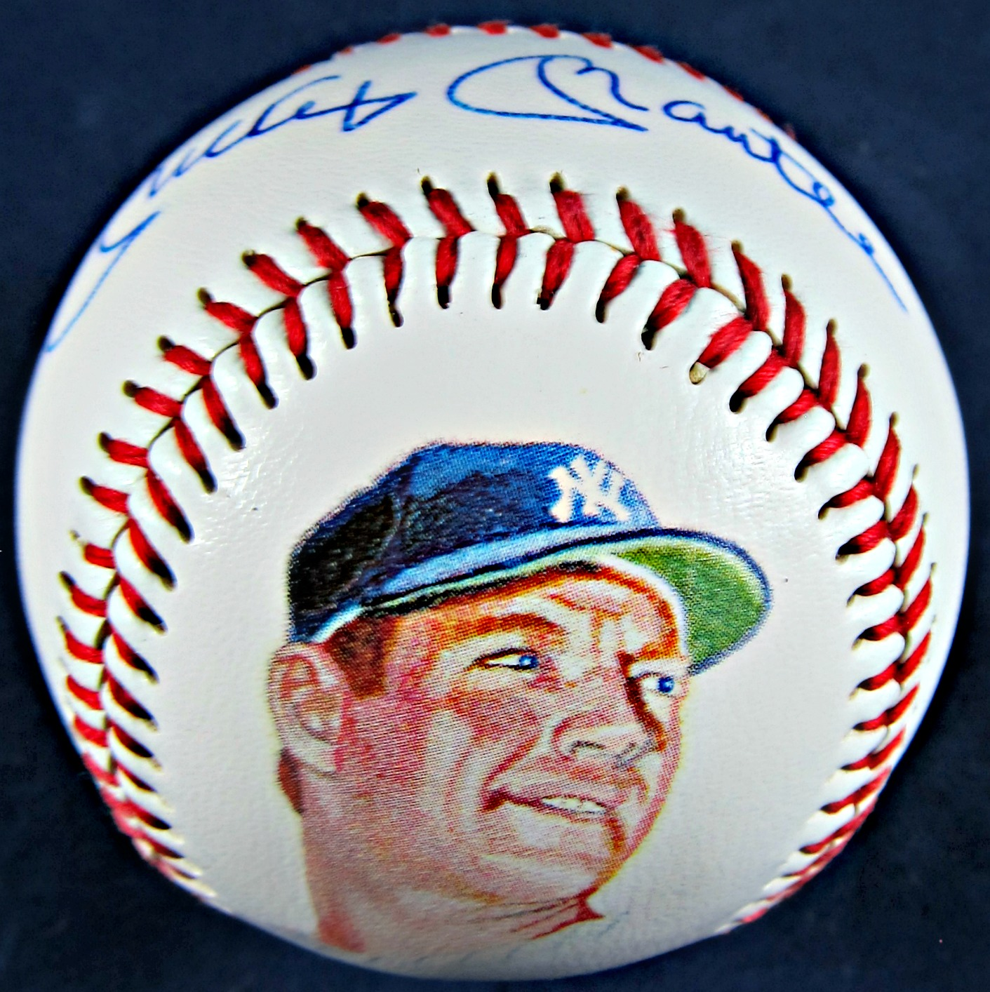 Mickey Mantle Autographed Photoball