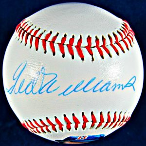 Ted Williams Autographed Photo Ball.