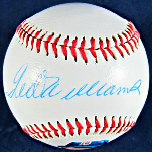 Ted Williams Autographed Photoball