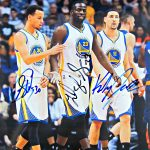 Steph Curry, Draymond Green & Klay Thompson Autographed Photo