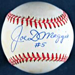 Joe DiMaggio Autographed Baseball #5