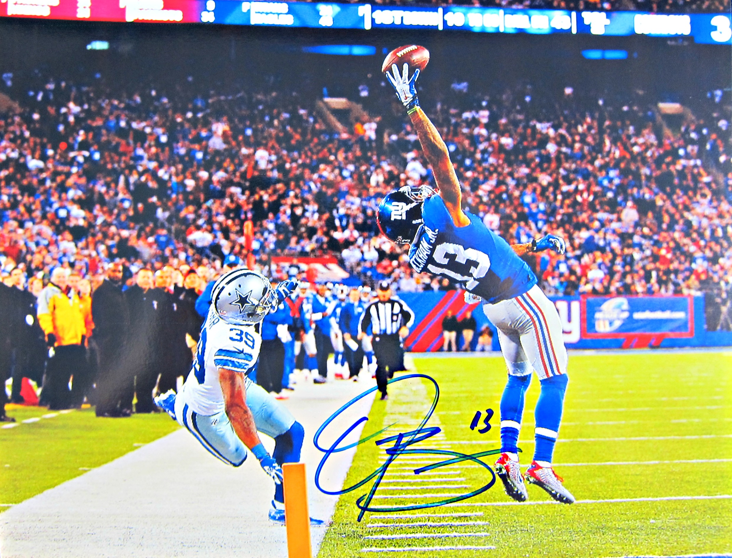 Odell Beckham Jr Autographed Photo Memorabilia Center