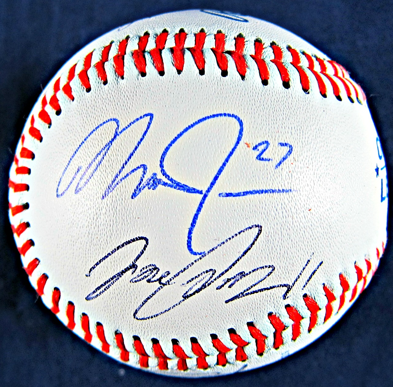 AL All-Stars Starting Line up Autographed Baseball