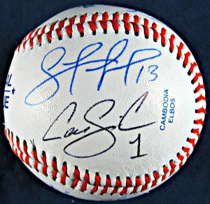 AL All-Stars Starting Line up Autographed Baseball
