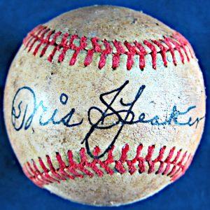 Tris Speaker Autographed Baseball