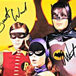 Adam West and Burt Ward Autographed Batman TV Show Photo