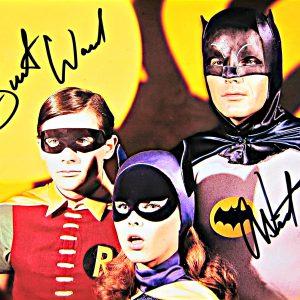 Adam West and Burt Ward Autographed Batman TV Show Photo