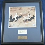 Babe Ruth Autographed Display