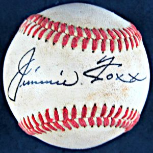 Jimmie Foxx Autographed Baseball