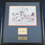 Ty Cobb Autographed Display