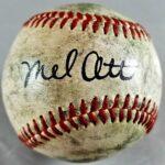 Mel Ott Autographed Baseball