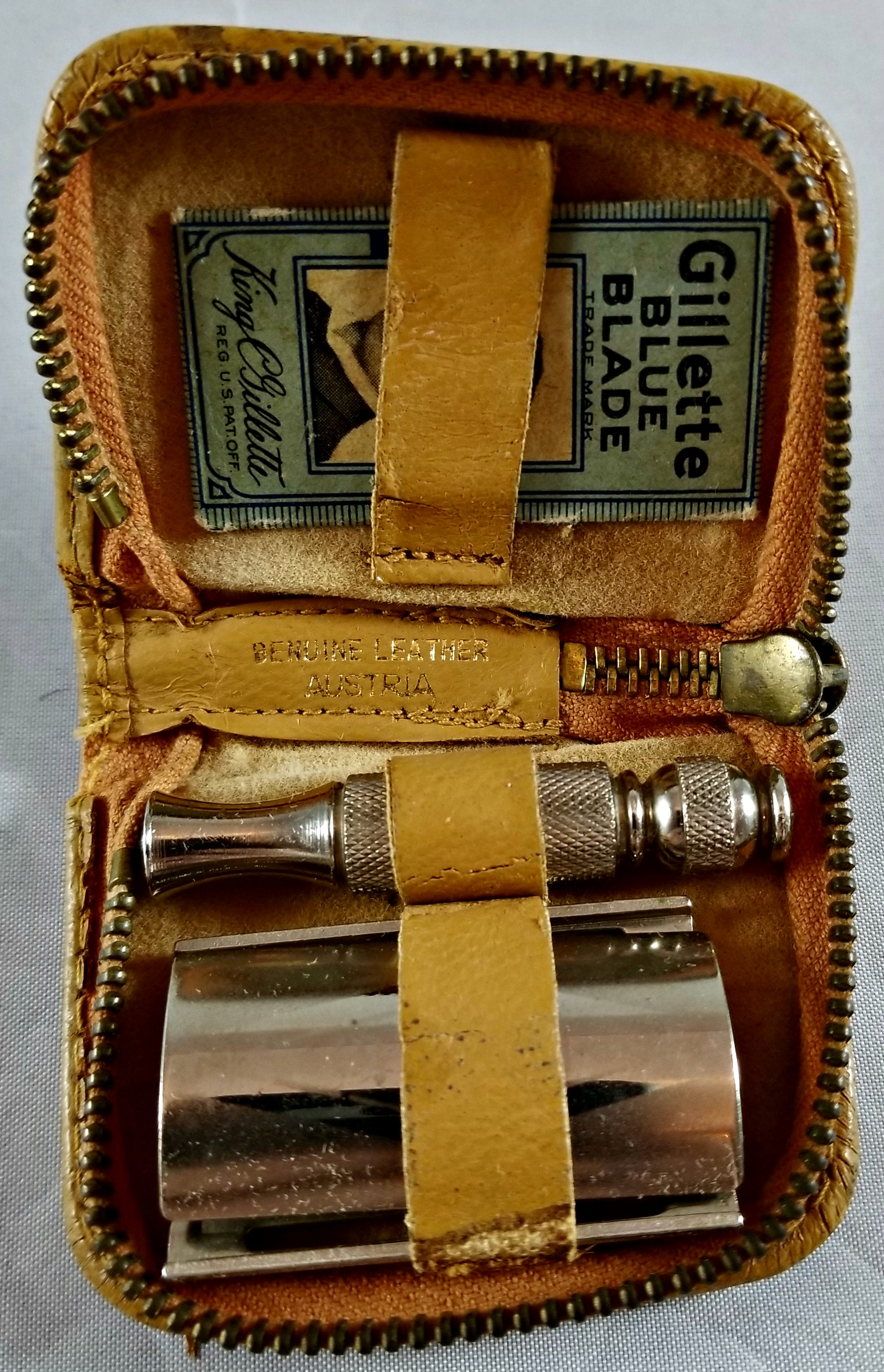 Ty Cobb Autographed Shaving Kit