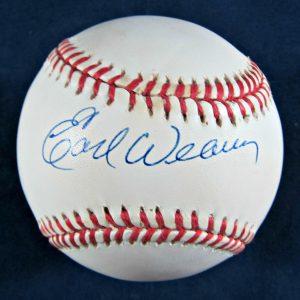 Earl Weaver Autographed Baseball