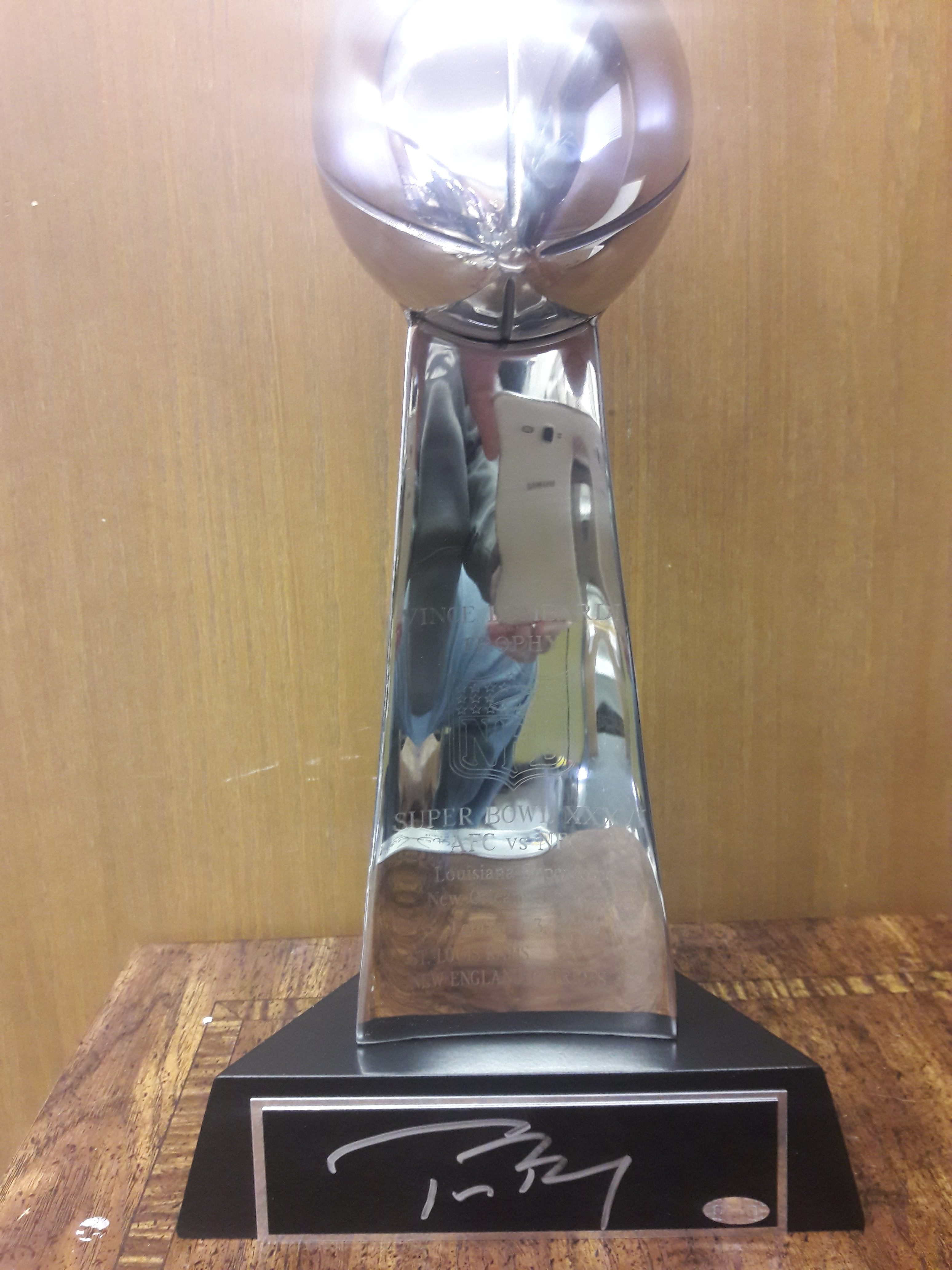 Tom Brady Autographed Super Bowl Trophy