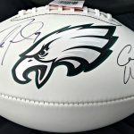 Wentz-Foles signed football