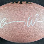 Carson Wentz Autographed Football