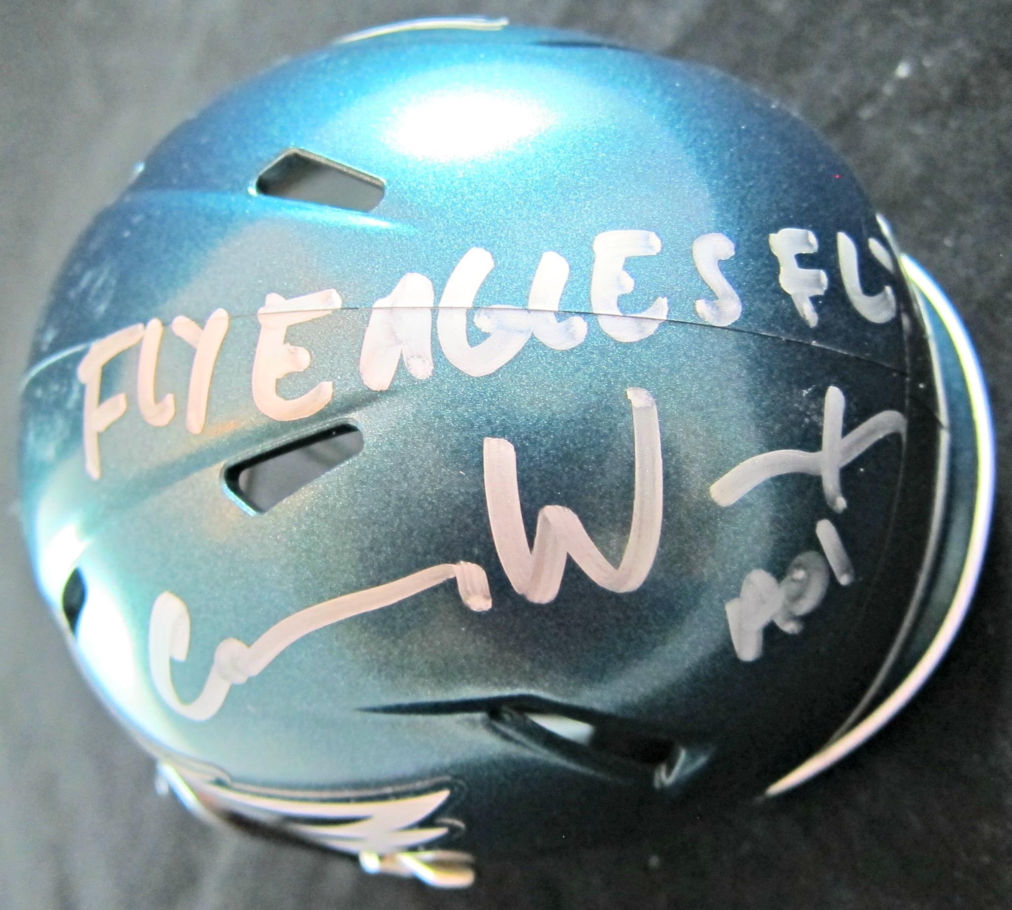 3d2c2ef4364 Carson Wentz Signed Mini Helmet - Memorabilia Center