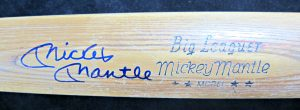 Mickey Mantle Autographed Bat