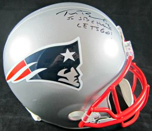 Tom Brady Signed Helmet