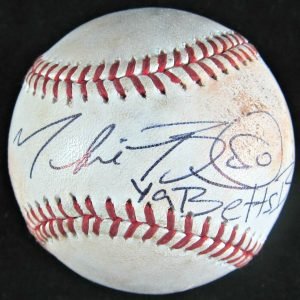 Mookie Betts Autographed Baseball