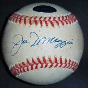 Joe DiMaggio Autographed OAL Ball