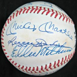 500 Home Run Hitters Club Multi Signed Rawlings Baseball (12 Signatures)