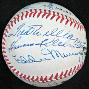 500 Home Run Hitters Club Multi Signed Rawlings Baseball (12 Signatures)
