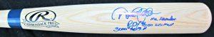 Derek Jeter Mr. November Autographed Rawlings Baseball Bat