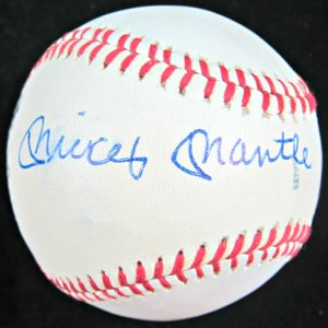 Mickey Mantle Roger Maris MacGregor Autographed Baseball