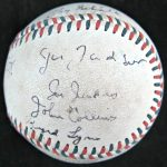 1919 White Sox Team Autographed Baseball (21 Signatures)