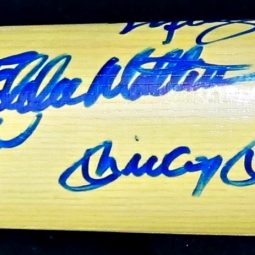 500 Home Run Hitters Club Autographed Baseball Bat (11 Signatures)