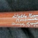 Professional Ladies Of Baseball Model Young Autographed Baseball Bat (A League Of Their Own)
