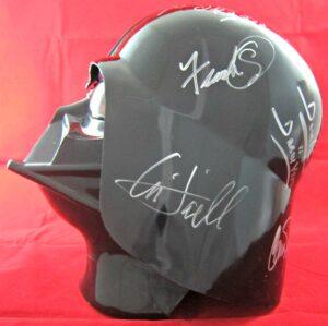 Star Wars Cast Signed Darth Vader Helmet